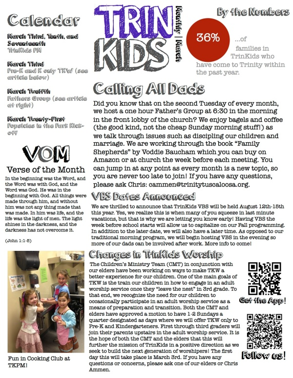 TrinKids Monthly March 2013