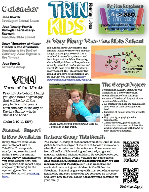 TrinKids Monthly April 2013