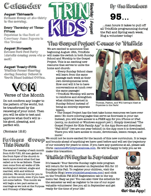TrinKids Monthly August 2013